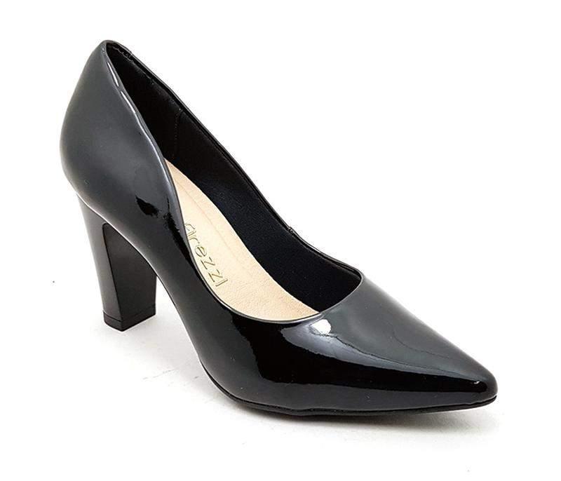 228317e81e Sapato feminino scarpin firezzi verniz preto - R$ 119.90 (salto ...