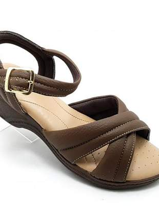 Sandália comfort x via flex marrom