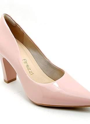 Sapato feminino scarpin firezzi verniz rosê