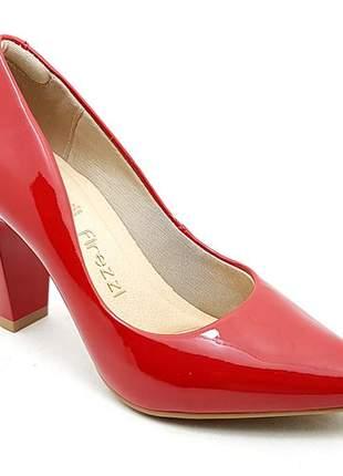 Sapato feminino scarpin firezzi verniz vermelho