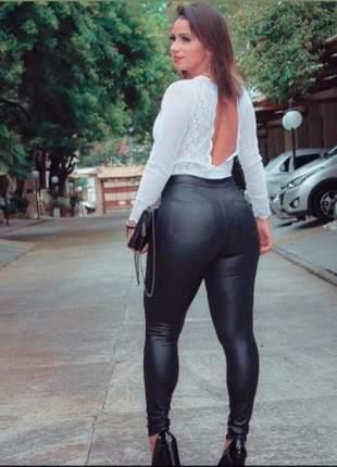 Calça disco leg com bolso  leggings  ideal para o dia a dia balada arrase ...
