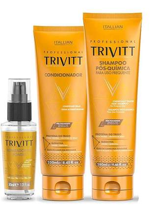 Kit trivitt home care + reparador de pontas 30ml