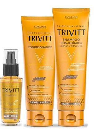 Kit trivitt home care + finalizador power oil 30ml
