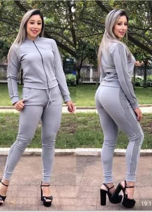 Conjunto malha crepe ideal para o friozinho calça e blusa