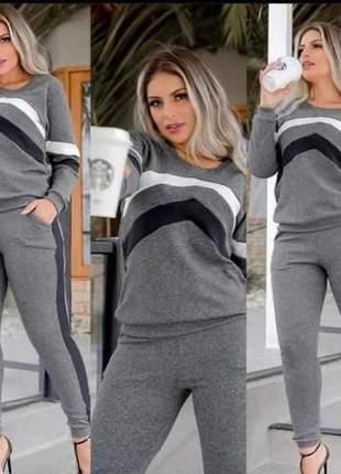Conjunto de inverno de calça e blusa