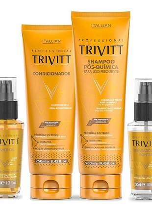 Kit trivitt home care ação anti-frizz finalizadores (4 itens)