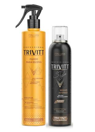Kit trivitt fluido para escova 300ml + spray de brilho intenso 200ml