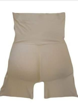 Cinta modeladora enchimento cintura alta bege preto