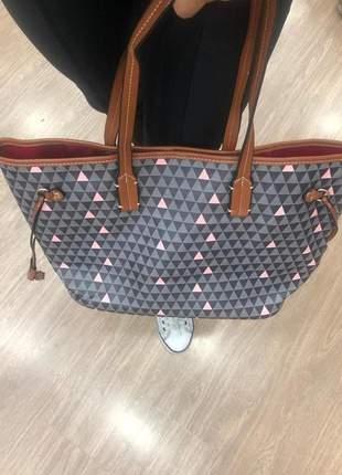 Kit bolsa sacola com necessarie e carteira