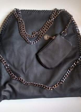Bolsa stella feminina com alça de corrente