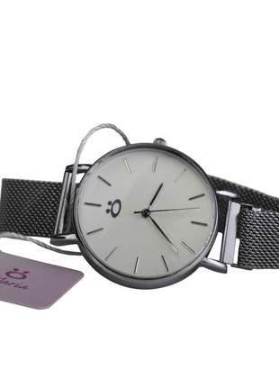 Relógio feminino pulseira magnética analógico confortável elegante + binco/colar