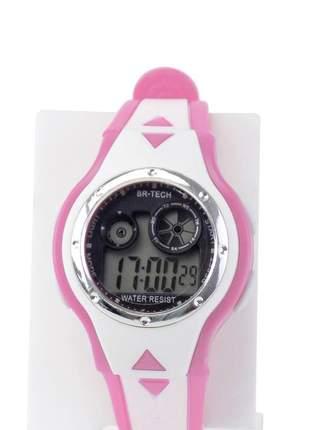 Relógio feminino pulseira silicone digital funcional confortável elegante