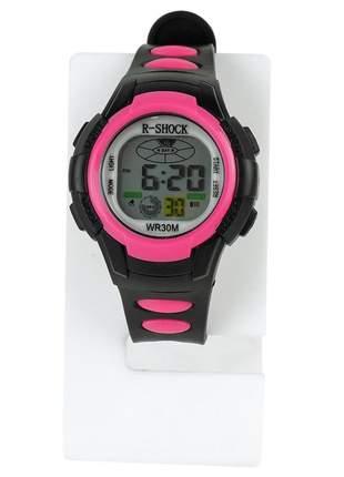 Relógio feminino pulseira silicone digital funcional confortável elegante ajustavel