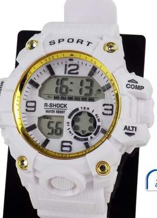 Relógio feminino pulseira silicone digital funcional confortável elegante ajustável