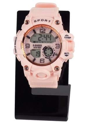 Relógio feminino pulseira silicone analógico confortável elegante ajustável a prova d'água