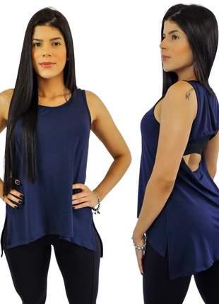 Regata dry fit feminina azul marinho escuro