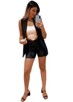 Conjunto max blazer colete alfaiataria cinto short femininas ccs-701