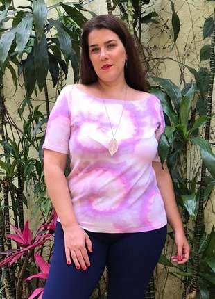Blusa tie dye plus size