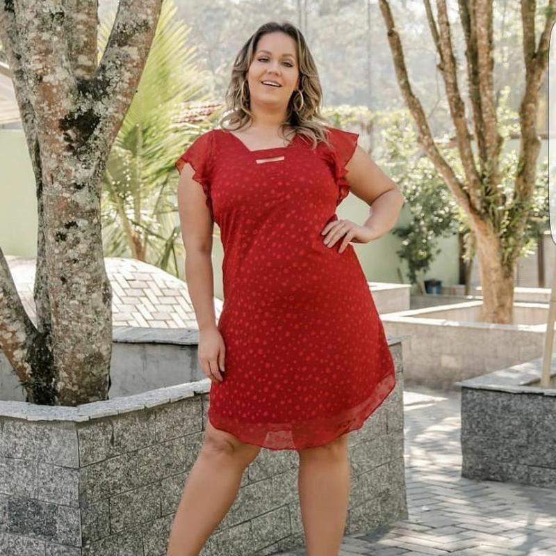 Vestido Voal Tamanho Exg Cor Vermelho R 15990 Shafa O Melhor Da Moda Feminina