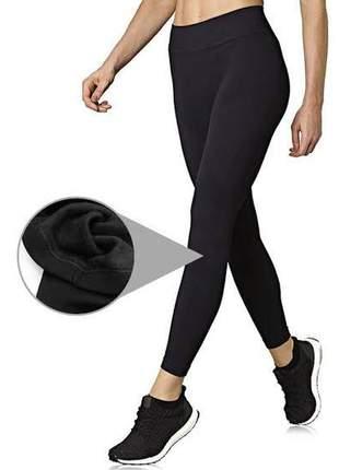 Calça legging feminina flanelada forrada legue peluciada leg  quentinha iverno