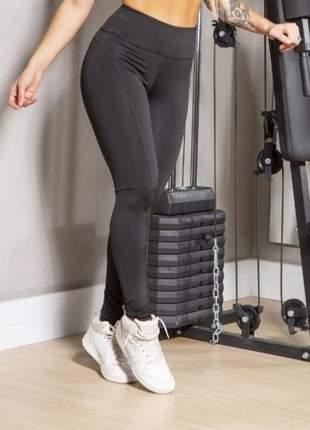 Calça legging feminina montaria levanta aumenta bumbum