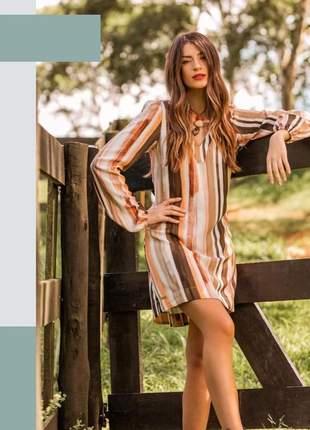 Vestido listras fair tricomix