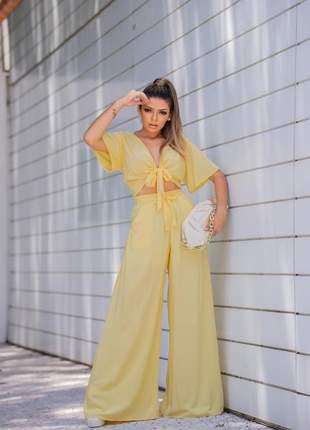 Calça pantalona cores de lançamento exclusivos da moda feminina