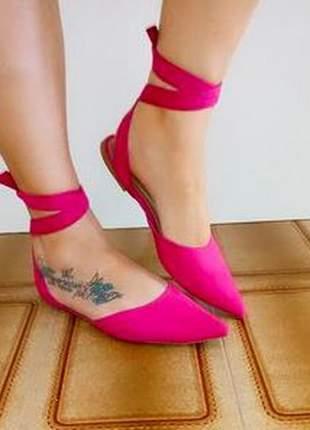 Mule rosa com amarração