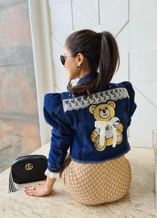 Jaqueta jeans princesa coleção aconchego