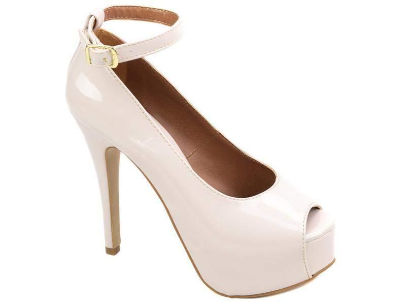 e6bfd6c83d ... Sapato feminino salto alto fino nude festas noivas casamento meia pata2  ...