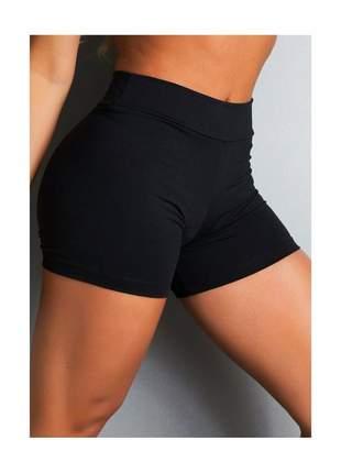 Shortinho liso preto, branco ou cinza de suplex fitness feminino - clf sports