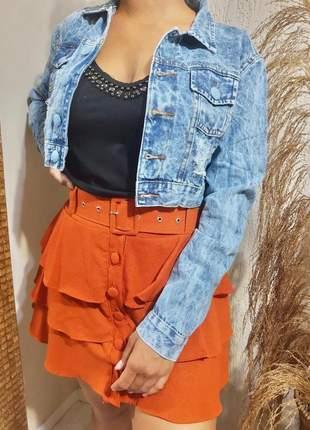 Jaquetinha jeans lançamento exclusivo da moda feminina