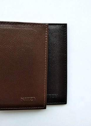 Porta cartão clássico ultra slim em couro legítimo modelo 215
