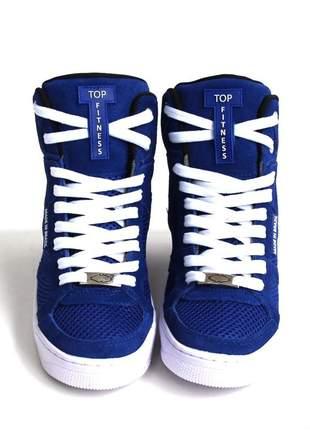 Bota botinha sneakers tenis c/ alto academia top fit treino