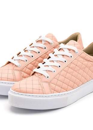 Tenis casual feminino metelasse conforto rosê red8521