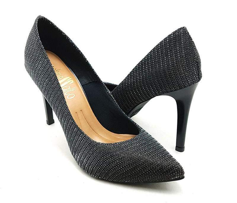 ab62dec056 ... Sapato feminino scarpin sobressalto salto alto lurex preto2 ...