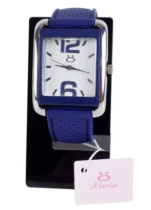 Relógio feminino pulseira de borracha analógico modelo único