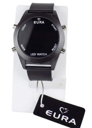 Relógio feminino pulseira de aço led modelo único