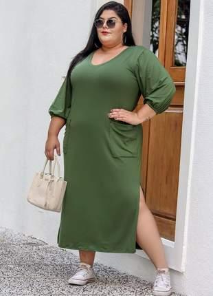 Vestido midi moda plus size
