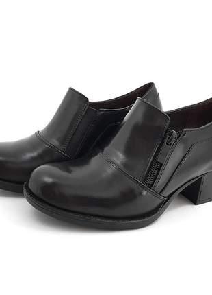 Sapato social couro com zíper mah streep opções de cores