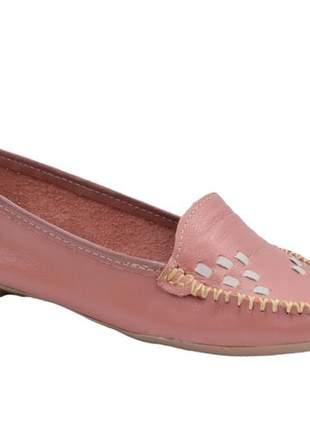 Sapato mocassim coral liso sapatilha retro 101916