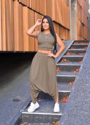 Conjunto saruel blusa e calça