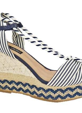 Anabela feminino tiras casual sandália 806180635