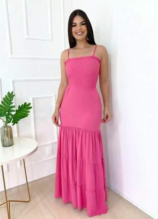 Vestido longo de alça