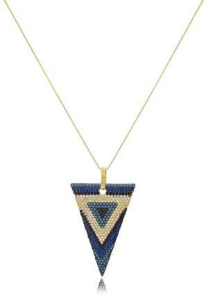 Colar triangulo minimalista invertido