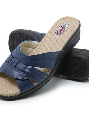 Sandália conforto tamanco ortopédico em couro 285