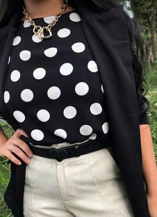 Blusa estampa de poá