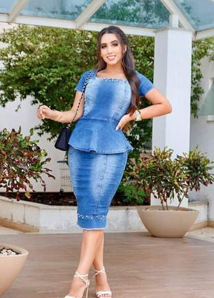 Conjunto jeans peplum
