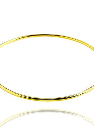 Bracelete liso dourado