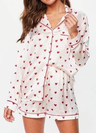 Pijama estiloso em cetim - lindo presente !